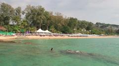 Surin beach Phuket. - stock footage