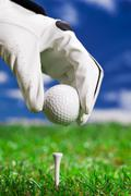 Let's play a round of golf! Stock Photos