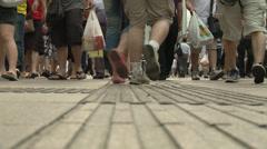 Slo-mo Low shot, feet, legs, shoppers Stock Footage