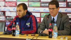 Head coach of Russian national football team Fabio Capello - stock footage