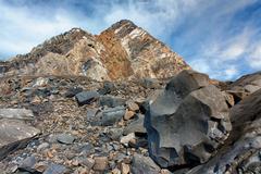 Magu Rock at Point Magu - stock photo