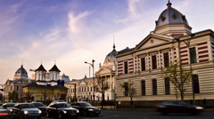 Downtown Bucharest - Coltea - time lapse Stock Footage