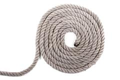 roll of nautical rope - stock photo
