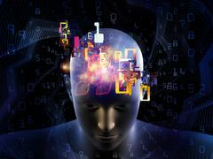 Advance of Digital Thinking Stock Illustration