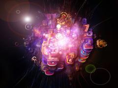 Stock Illustration of Acceleration of Digital Technology