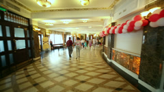 People before competition Beauty of Russian Railways Stock Footage