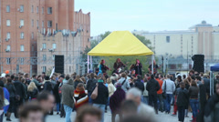 Group performs at Moscow international festival of music HARVEST Stock Footage