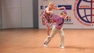 Stock Video Footage of Couple dance boogie-woogie on World championship