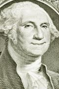 One dollar bill with smiling george washington Stock Photos