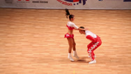 Stock Video Footage of Pair dance rock-n-roll on World championship