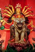 Durga Idol, traditional, worship, Hindu, Hinduism, Bengal cultur Stock Photos