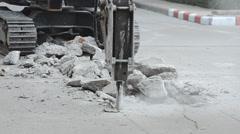 Drill concrete machine Stock Footage