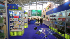Moscow International book exhibition and fair in VVC. Stock Footage