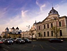 4K time lapse: Bucharest - Coltea Stock Footage