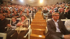 Viewers applaud at Grand Festival of Russian National Orchestra Stock Footage