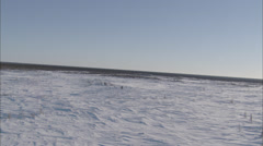 Frozen Tundra Helicopter Stock Footage