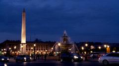 Place de la Concorde - Paris France Stock Footage