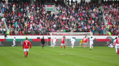Footballers play at football match Spartak Moscow - Dynamo Kiev Stock Footage
