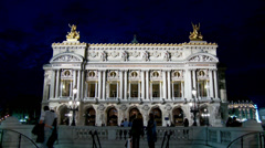 Paris Opera or Opera de Paris - Paris France - stock footage