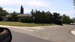 Sacramento neighborhood, South area Stock Footage