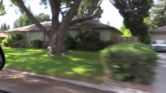 Driving residential, Sacramento Stock Footage