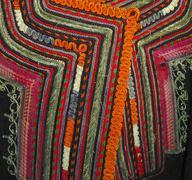 Handmade antique Bulgarian national costume - stock photo