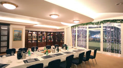 Library with bookcase at Baltschug Kempinski Moscow Hotel. Stock Footage