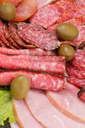 Background of Delicatessen Meat - stock photo