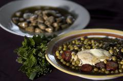 Peas soup - stock photo