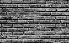 Stock Photo of High Contrast  Glossy Brick Wall