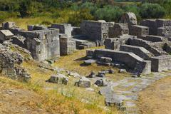 Ruins of the ancient amphitheater at Split, Croatia - stock photo
