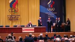 Ilya Zakharov at awarding of 20th anniversary award ceremony Stock Footage