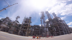 Stock Video Footage of Refining oil and chemical factory