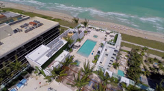 Aerial video Grand Beach Hotel Surfside Stock Footage