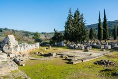 nemea archaeological site, greece - stock photo
