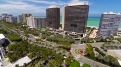 Aerial video St Regis Bal Harbour Stock Footage