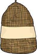 isolated potato sack - stock illustration