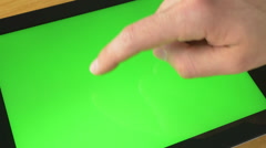 4K Green Screen Tablet Gestures Stock Footage