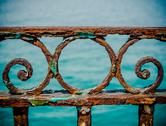 Stock Photo of vintage rusty railings