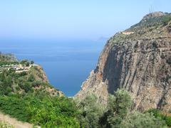 butterfly valley deep gorge fethiye turkey - stock photo