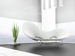 White sofa Stock Illustration