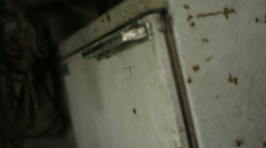 Decaying Rust Spot Fridge Cooler Freezer - 29,97FPS NTSC Stock Footage