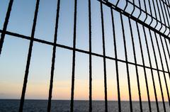 Net over the atlantic ocean Stock Photos