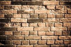 brick wall texture grunge to use as background - stock photo