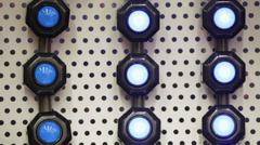 Wall lights lamps with shifty Stock Footage