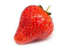 Fresh Red Strawberry Isolated Stock Photos