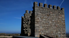 Castel and city, Castelo Branco Portugal Stock Footage
