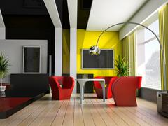 interior 042 - stock illustration