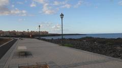 Jogging Girl near the sea Stock Footage
