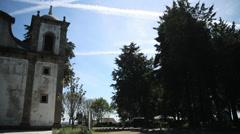 Castel castelo branco Stock Footage